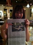 Tanya with Press Democrat Town Section April 21, 2013!